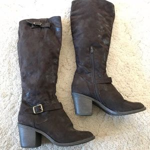 faux suede boots from Target